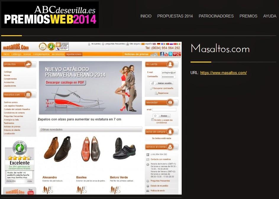 Masaltos.com participa en los Premios Web2014 de ABC | Masaltos.com participates at ABC web2014 awards