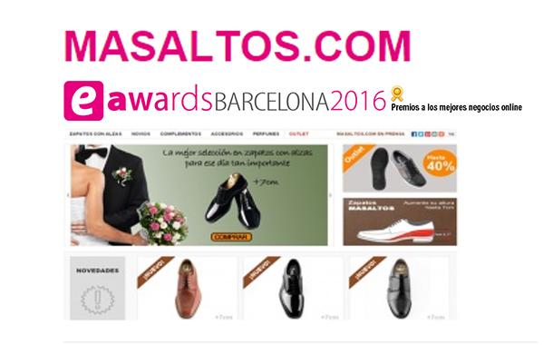 """Masaltos.com, elegida finalista para los premios """"eAwards Barcelona 2016"""""""