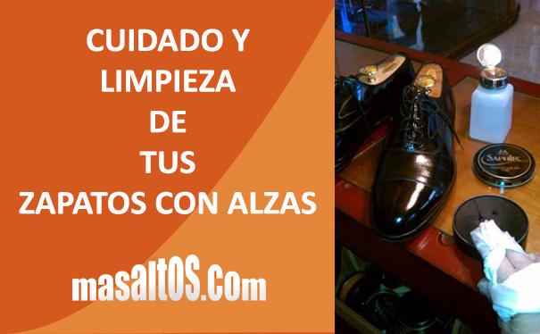 Cuidado y limpieza zapatos con alzas