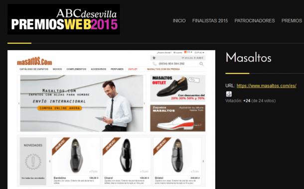Masaltos.com has been selected as a finalist for the web awards, ABC of Seville 2015