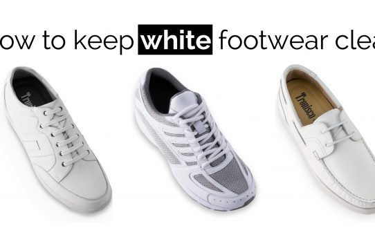 HOW TO KEEP WHITE FOOTWEAR CLEAN
