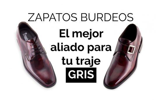 ZAPATOS BURDEOS: El mejor calzado para traje gris.